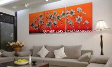 YH693B 3pc Hand painted Oil Canvas Wall Art home Decor abstract flowers NO Frame