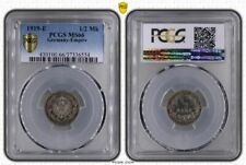 1/2 Mark Silver J.16 1919 E Brilliant Uncirculated PCGS Certified MS66 (36126)