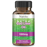 Cod Liver Oil 1000mg x 120 Capsules High Strength 4 Months Supply