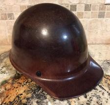 MSA Skullgard Fiberglass Cap Hard Hat with Fast Track Suspension Medium Brown