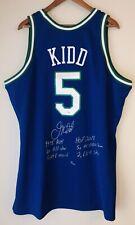 Jason Kidd Mavericks Signed Mitchell & Ness NBA Auto Stat Jersey FANATICS #6/12