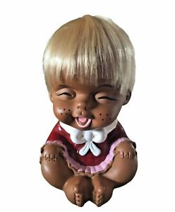 Vintage  60s Rubber  Doll Japan Large Rare Hard To Find 8.5 Inches