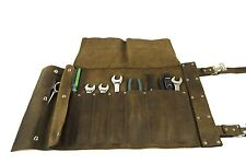 Brown Leather Roll up Tool Bag Motorcycle Harley Indian USA MADE