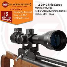 Air Gun 3-9x40 Rifle scope / Illuminated retice scope including Dovetail mounts
