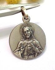 """MEDAILLE """" SACRE' COEUR DE JESUS """" EN ARGENT MASSIF 925 - NOUVEAU"""