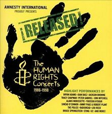 RELEASED! THE HUMAN RIGHTS CONCERTS 1986-1998 (Springsteen, U2...) 2 CD SET
