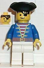 LEGO 6286 - PIRATES - Blue Shirt, Black Triangle Hat - MINI FIGURE