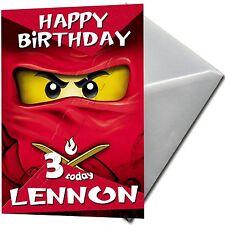 Ninjago, Lego - Personalised Birthday Card Large A5