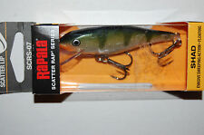 """rapala scatter rap shad scrs-07 scrs07 yp yellow perch 2 3/4"""" 1/4oz"""