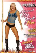 ADVANCED POLE DANCING & FIRE EXOTIC DANCE DVD---NEW