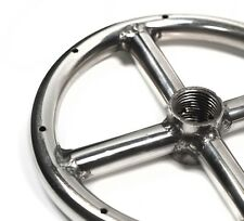 "FR6: 6"" MARINE GRADE 316 STAINLESS STEEL SINGLE FIRE RING GAS FIRE PIT BURNER"
