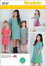 Simplicity 8147 Child's & Girls' Knit Dresses from Mod Kid Studies Size 3-6yrs