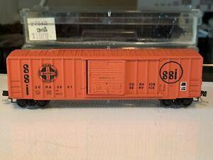 N scale Kadee 25370 50' Rib Side Boxcar Sierra Railroad 3001