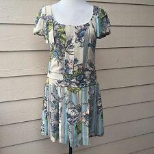 Anthropologie Leifsdottir Avonlea Dress 100% Silk Floral Dropwaist Sz 2
