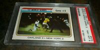 1974 OPC O-PEE CHEE #474 WORLD SERIES OAKLAND NEW YORK METS NM MINT PSA 8