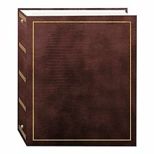 Magnetic Self-Stick 3-Ring Photo Album 100 Pages 50 Sheets, Brown