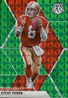2020 Panini Mosaic Steve Young Green Prizm #149 San Francisco 49ers