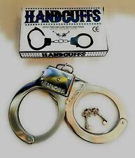 METAL HANDCUFFS FANCY DRESS KIDS PLAY POLICEMAN Hen Do Stag Do UK