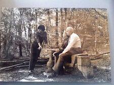 LOUIS ARAGON et ELSA TRIOLET  - PHOTO ORIGINALE DE GIANCARLO BOTTI (20x30cm)