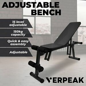 Adjustable Weight FID Fitness Dumbbell Bench Gym Home Flat Incline Decline