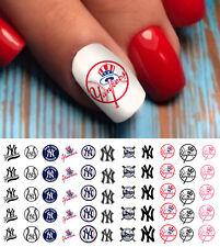New York Yankees Baseball Nail Art Decals - Salon Quality!