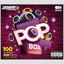 Zoom Pop Box Hits Of 2019, 100 Chart Hits 5 CD+G Disc Set