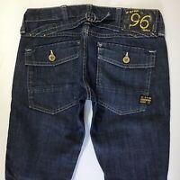 Ladies G-Star ELWOOD HERITAGE NARROW SLIM DARK BLUE jeans size W27 L30 (708c)