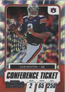 2021 Contenders Draft CAM NEWTON Auburn / NE Patriots Conference Ticket #23 #'d