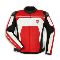 Luxe Leather Ducati Corse C4 Motorcycle Leather Sports Racing Jacket Perforated