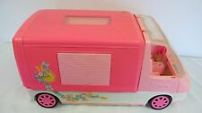 BARBIE MOTOR HOME PINK 1996 WITH KITCHEN SINK OVEN LIGHTS SOUNDS REFRIGERATOR