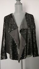 NWT Free People $298 Drippy Silver Sequin Jacket Grey Small