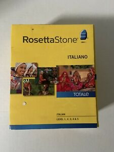 ROSETTA STONE 31604 Version 4 Italian Audio Companion Level 1-5 Italiano