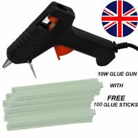 Hot Melt Glue Gun Electric Trigger Adhesive Hobby Craft+(100 FREE Glue Sticks)