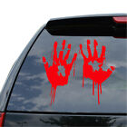 2X Red Bloody Vampire Hand Print Vinyl Car Decal Zombie Creepy Sticker