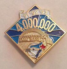 Toronto Blue Jays '91, '92, '93 - 4,000,000 Attendance Lapel Pin