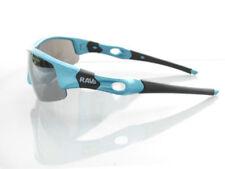 Occhiali da sole da uomo con montatura in blu e lenti in argento 100% UVA & UVB