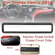 ABS Carbon Fiber Headlight Button Switch Frame Cover Trim For Toyota Camry  W