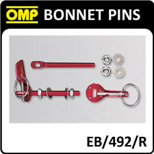 EB/492/R OMP RACING QUICK RELEASE BONNET PINS RED ALUMINIUM - PACK OF 2