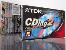 CASSETTE TAPES BLANK SEALED - 1x (one) TDK CDing2 54 [1997] EUR  position Chrome