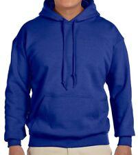 Small S Royal Blue GILDAN Heavy Fleece BLANK Hooded Sweatshirt Hoodie New