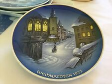 """ROSENTHAL WEIHNACHTEN 1972 CHRISTMAS PLATE CHRISTMETTE  MADE IN GERMANY 8.5"""""""