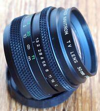 DO Industries Navitron 50mm 1.3 C mount TV lens | Navitar cine 50 f1.3 50/1.3