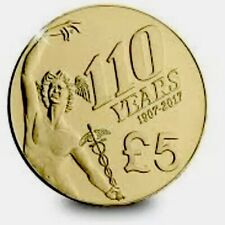 Isle Of Man Coin 5£ Pound Commemorative 110y TT New UNC From Bag