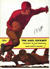 NP-163 San Francisco vs Saint Marys Universities Football Program Dec 9 1934
