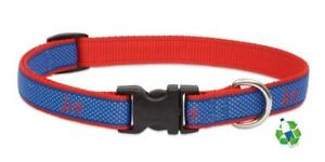 "NEW Newport Blue & Red Dog Collar or Leash 3/4"" or 1"" by Lupine Club (Recycled)"