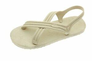 Flojos 101 Unisex Flat Sandals,Ivory-12