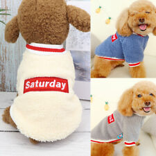 Small Dog Clothes for Winter Coat Pet Cat Puppy Chihuahua Warm Fleece Apparel