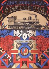 GRATEFUL DEAD FARE THEE WELL TRAIN 50TH SANTA CLARA POSTER PRINT STATUS HELTON
