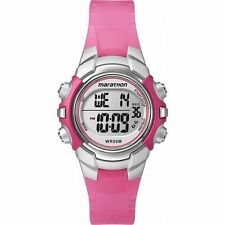 Timex T5K808, Women's Marathon Resin Watch, Indiglo, Alarm, Stopwatch, T5K808M6