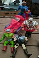 Vintage He-Man Action Figures & Attack Track Vehicle For Parts Or Repair 1980s